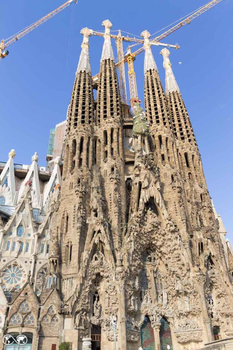 Barcellona: esterno della Sagrada Familia