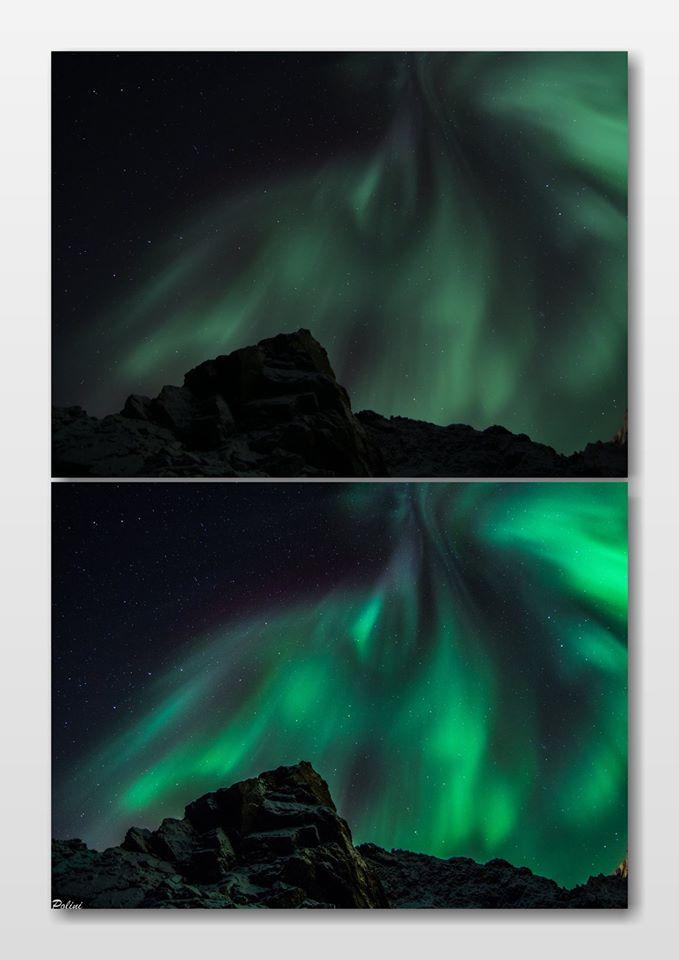 Come fotografare l'Aurora Boreale - Prima e dopo