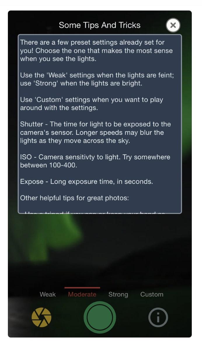 Fotografare l'Aurora Boreale con il cellulare