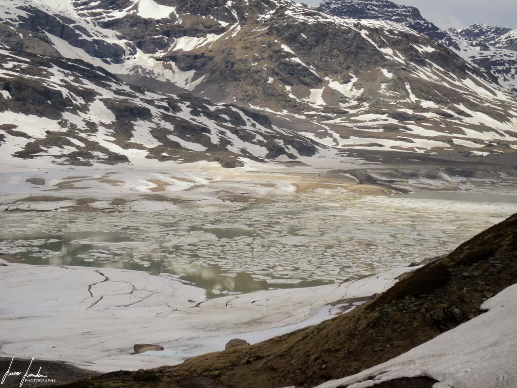 Trenino del Bernina in inverno: Lungo il percorso
