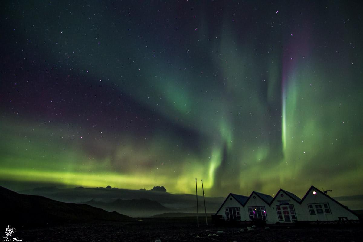 Aurora Boreale in Islanda: Jokulsarlon