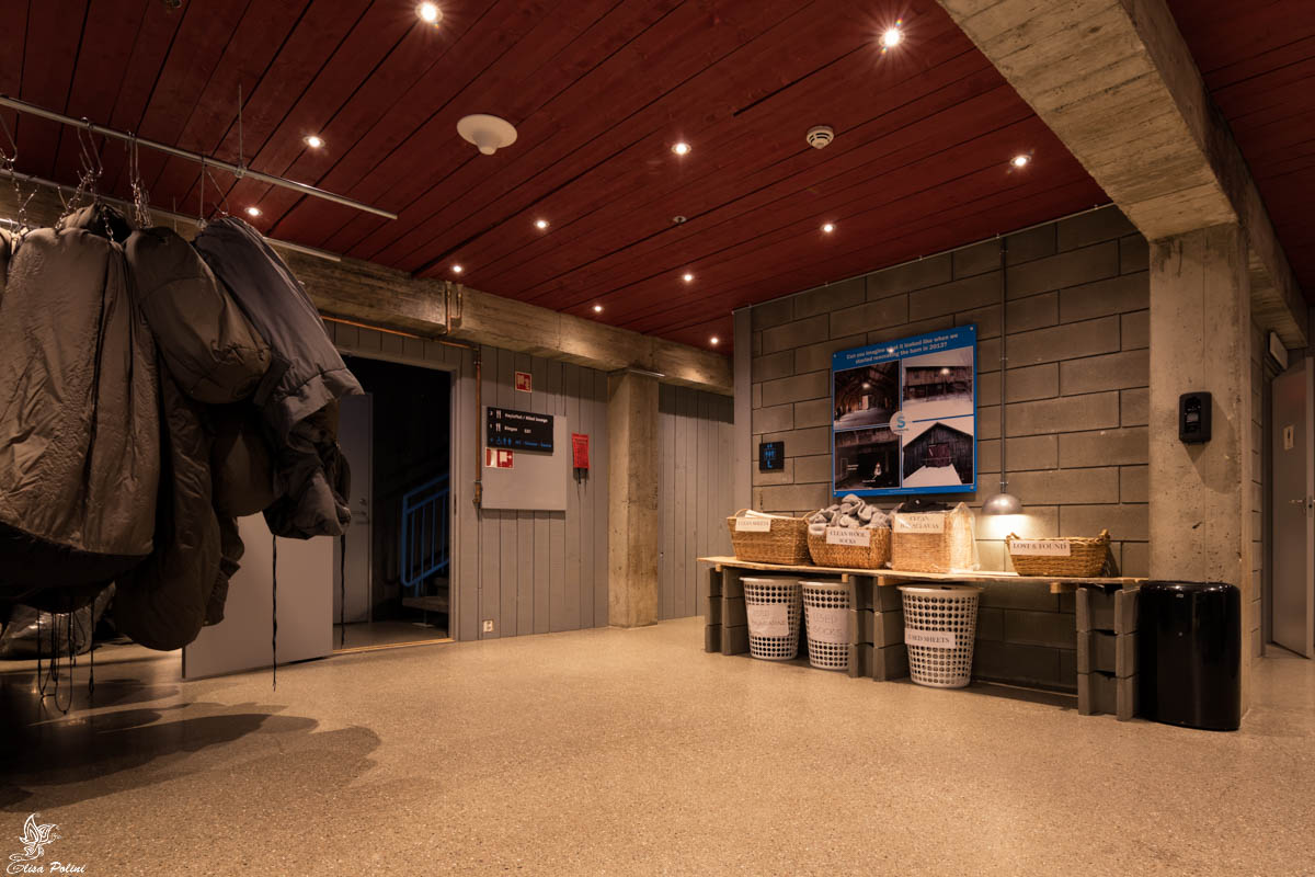 Lo spogliatoio dello SnowHotel Kirkenes