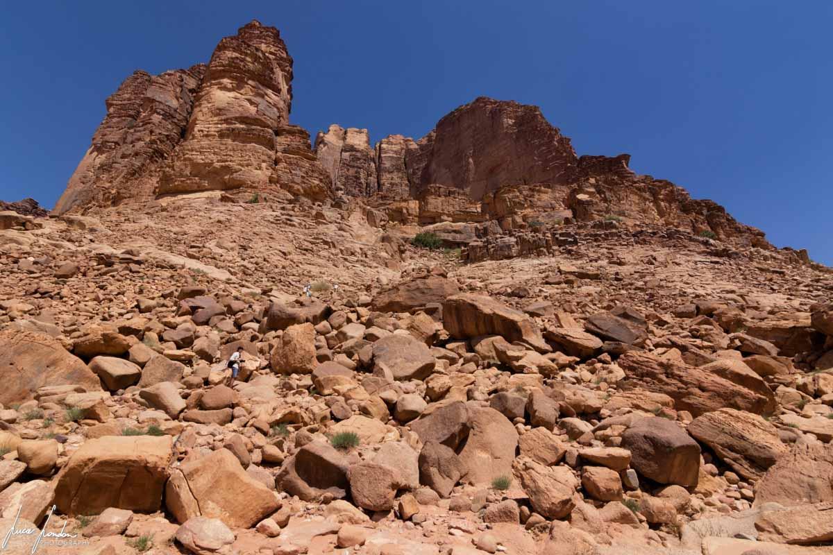 Wadi Rum: la salita verso la Lawrence Spring