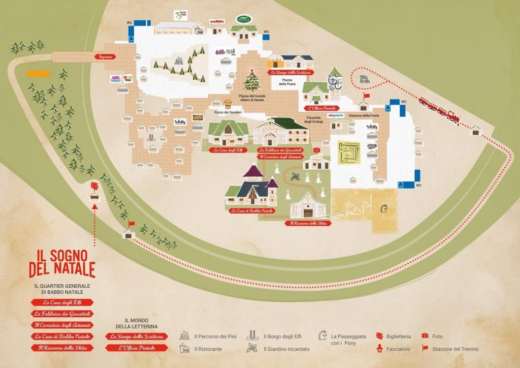 Mappa del Villaggio di Natale