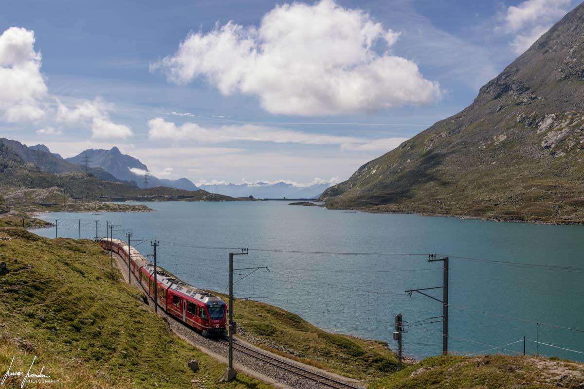Trenino del Bernina e il Lago Bianco