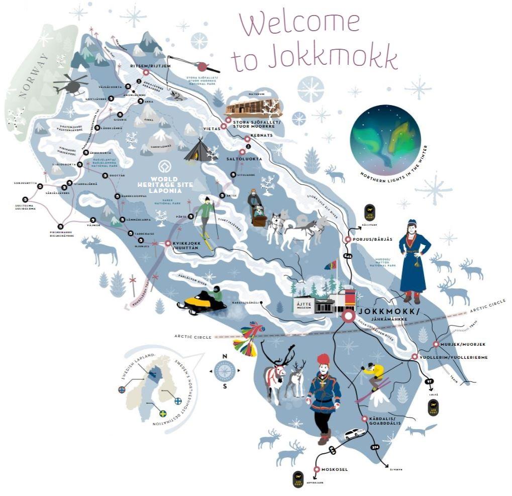 Jokkmokk: mappa invernale