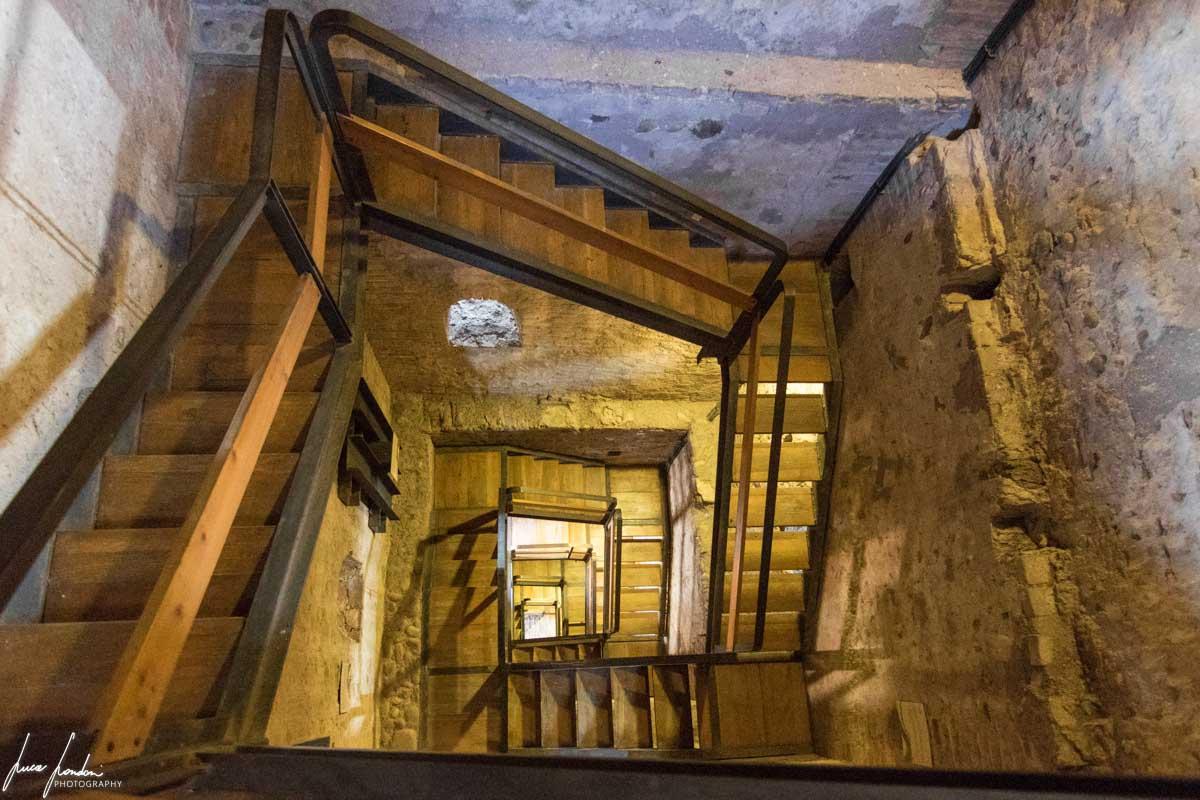 Salita alla torre del Castello Scaligero a Valeggio sul Mincio