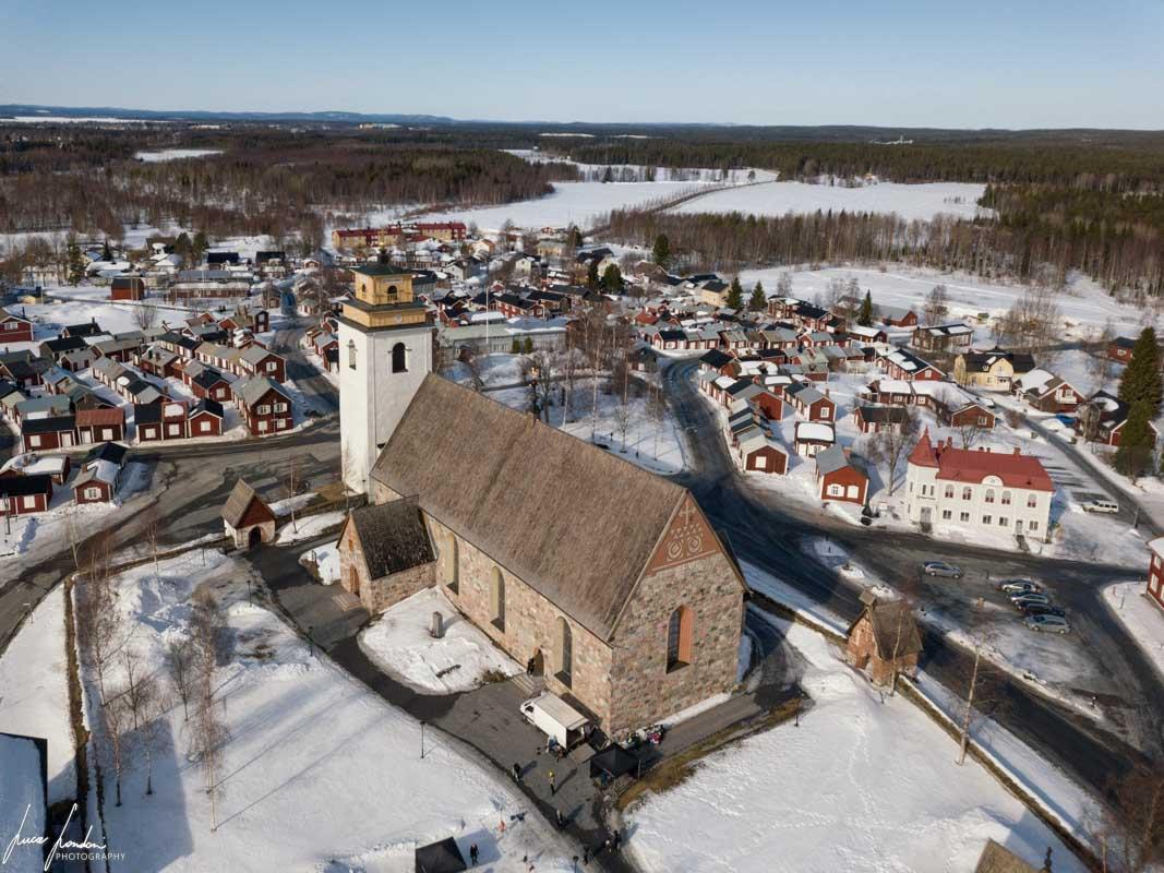Gammelstad vista dal drone