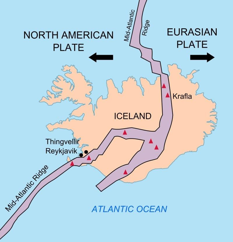Dorsale Medio-Atlantica in Islanda