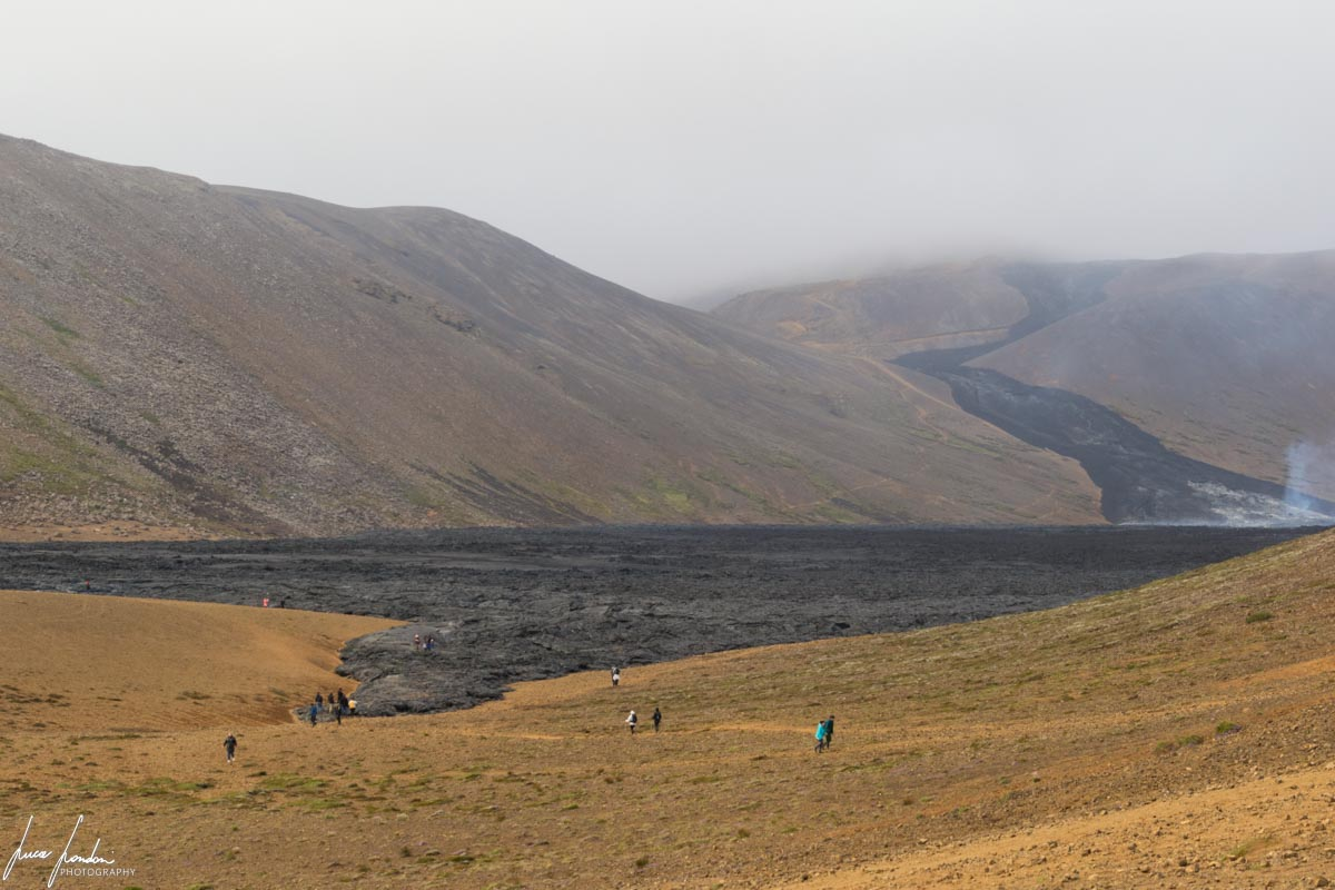 Vulcano in Islanda: eruzione a Fagradalsfjall (Valle di Natthagi)