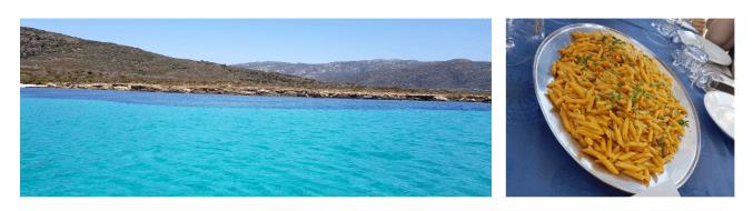 Vista delle acque nei dintorni di Stintino, l'Isola dell'Asinara