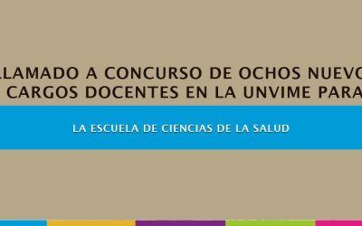 La UNViMe llama a inscripción para cubrir OCHO (8) ÚLTIMOS cargos docentes para  la Escuela de Salud