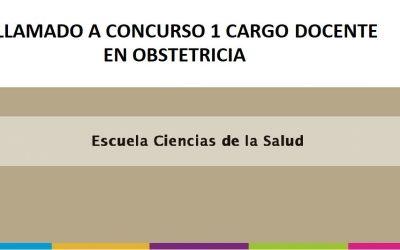 LLAMADO A CONCURSO PARA UN (1) CARGO DOCENTE EN OBSTETRICIA
