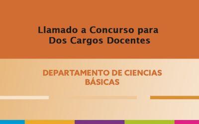 Convocatoria para Un (1) cargo Jefe de Trabajos Prácticos, Un (1) cargo de Ayudante de Primera.