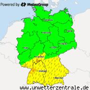 Aktuelle Unwetterwarnungen für Deutschland
