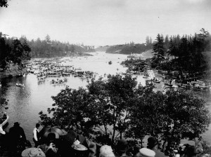 Regatta at the Gorge, Queen's Birthday, May 24th, 1892, Victoria, B.C. Samuel J. Jarvis / Library and Archives Canada / PA-025033