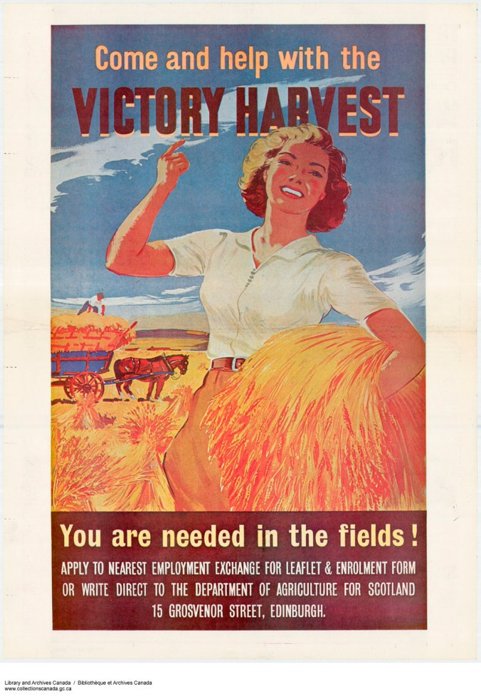 Come and Help with the Victory Harvest, You are Needed in the Fields (1939-1945), Library and Archives Canada,e010756935 CC BY 2.0