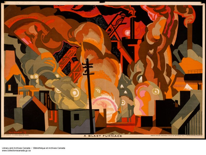 A Blast Furnace (1926-1934) Clive Gardiner. Library and Archives Canada, C-109483