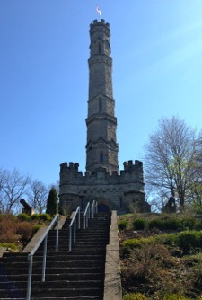 The Battlefield Monument, a 33-meter faux-Gothic castle, was begun in 1909 and unveiled in 1913 on the 100th anniversary of the battle.