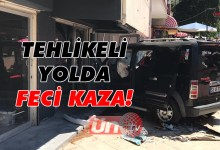 Tehlikeli Sokak'ta Feci Kaza!