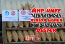 MHP'den Askıda Ekmek Kampanyası!