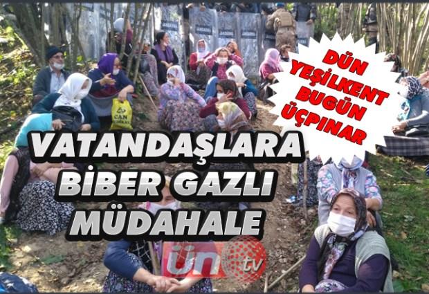 Vatandaşlara Biber Gazlı Müdahale!