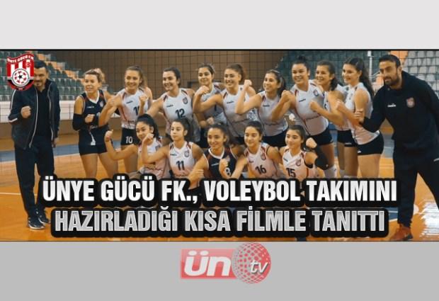 Ünye Gücü FK, Voleybol Takımını Kısa Filmle Tanıttı!