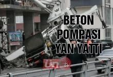 Beton Pompası Yan Yattı!
