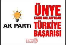 AK Parti Ünye Kadın Kolları Türkiye Yedincisi Oldu