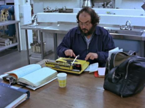 Jack is writing a horror story, and so is Stanley, here shown typing in his daughter's documentary