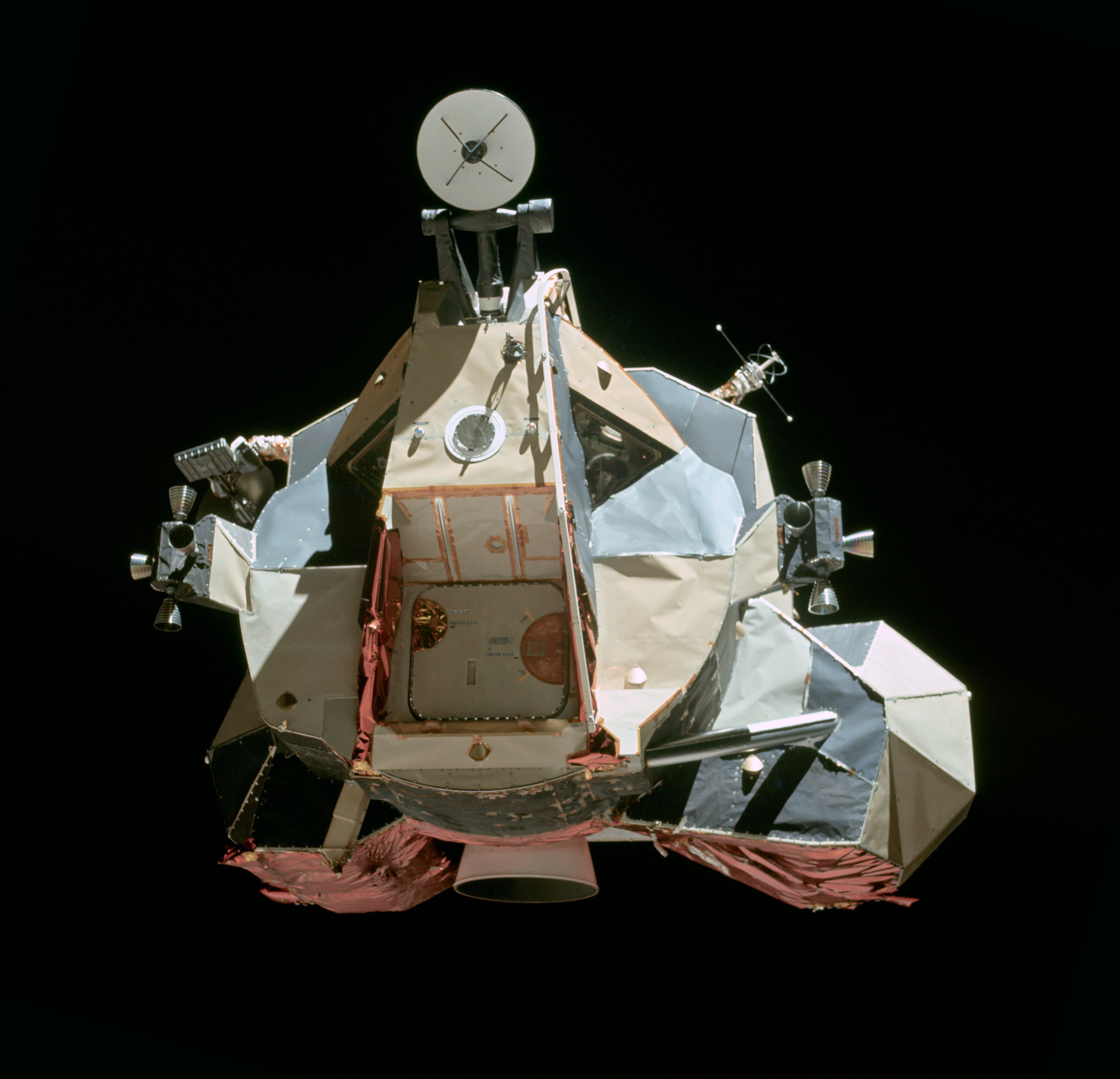 Ascent Stage of Apollo 17's Lunar Module, photographed from the Command Module before rendez-vous