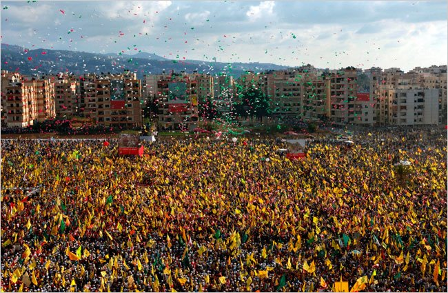 2006: The people of Lebanon celebrate the victory which turned the tide of AngloZionist imperialism