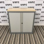 UOFC-Mid-Height-Silver-and-Maple-Tambour-cupboard-1