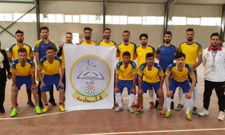 فريق جامعتنا يحقق فوزه الاول في بطولة الجامعات العراقية لخماسي الكرة