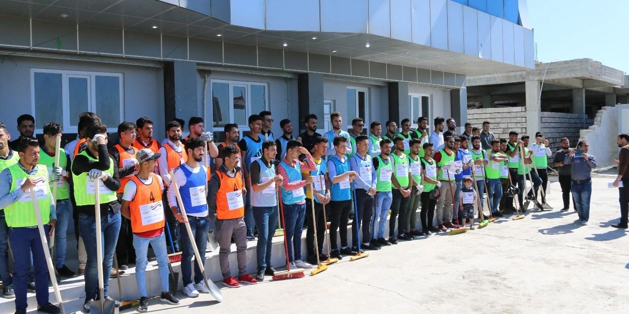 حملة تطوعية كبرى لتنظيف قضاء الحمدانية
