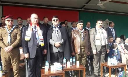 السيد رئيس جامعة الحمدانية يشارك بفعاليات المخيم الكشفي الخاص بذكرى تأسيس جيشنا الباسل