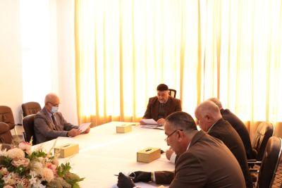 برئاسة السيد رئيس الجامعة مجلس الجامعة يعقد جلستها الاعتيادية الثانية للعام الحالي