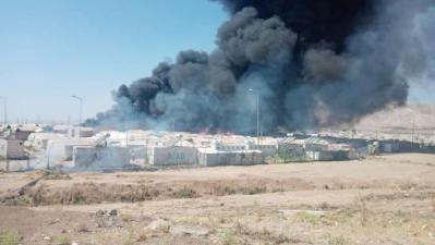 جامعة الحمدانية تعرب عن تعاطفها مع مآساة النازحين في مخيم شاريا