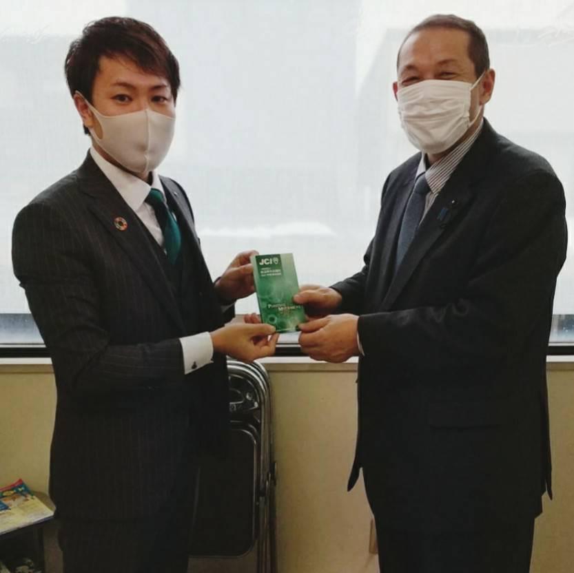 皆川県議会議員への新年のご挨拶