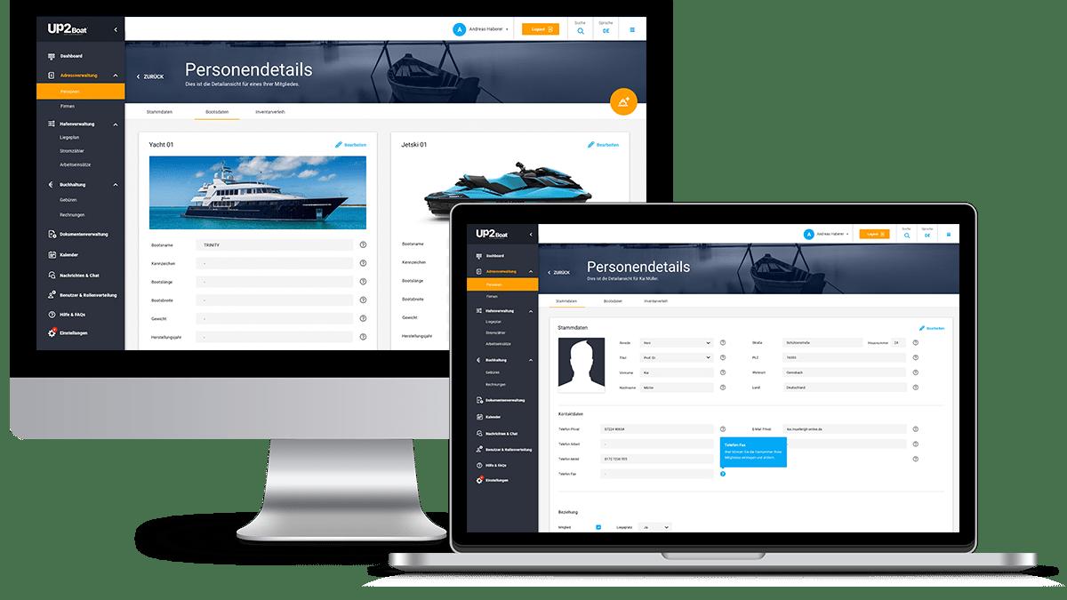 Online Präsentation Up2Boat Boat Club Management am 14.09.2020
