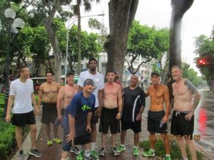 This was after a 5 mile morning run in Vietnam.