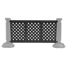 grosfillex 3 panel section of portable patio fencing