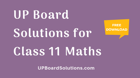 up board class 11 maths solutions pdf in hindi