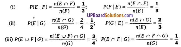 Class 12 Math UP Board Solution Chapter 13 Probability