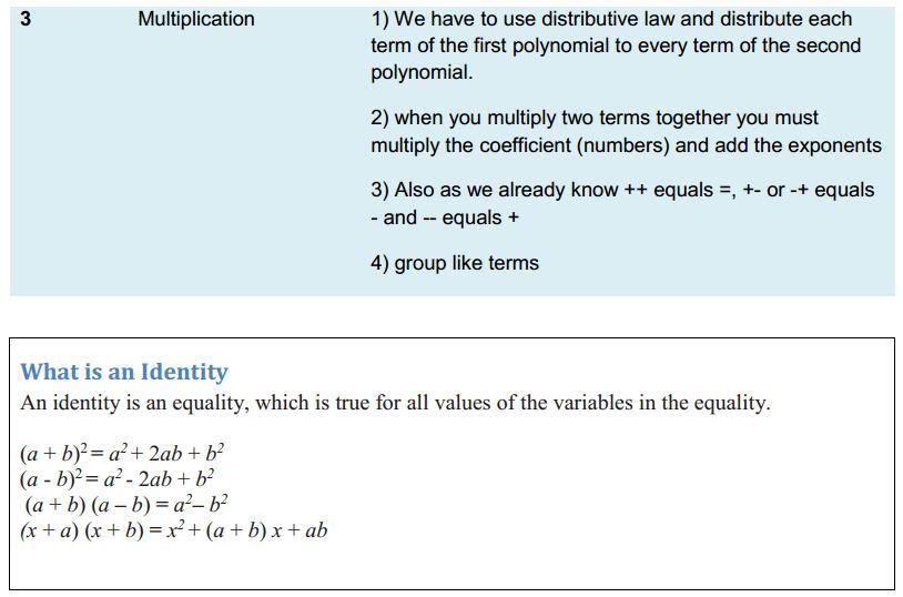 Algebraic Expressions and Identities Formulas Class 8 Q5