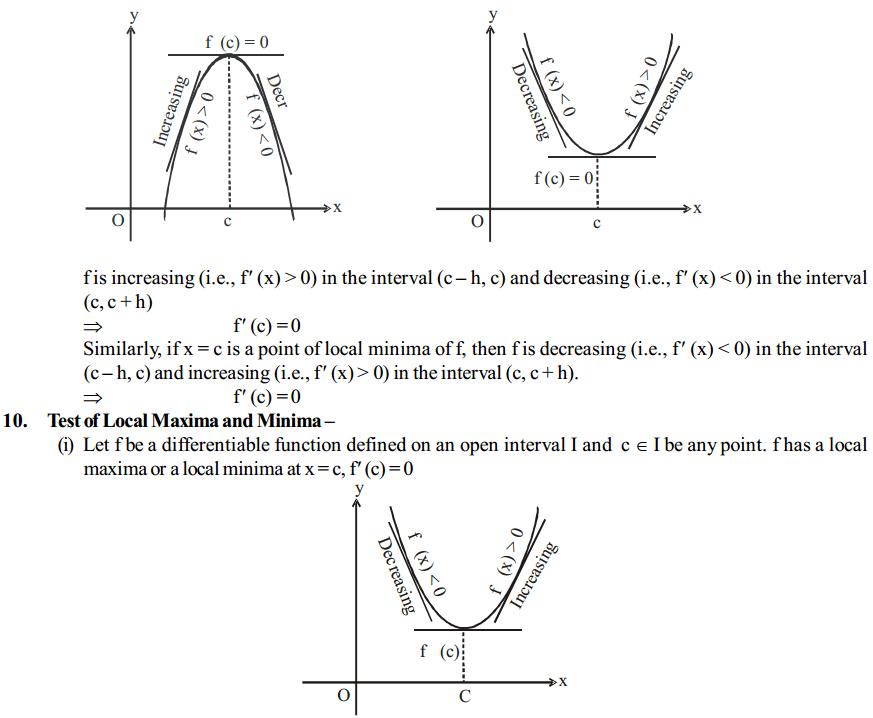 Application of Derivatives Formulas for Class 12 Q5