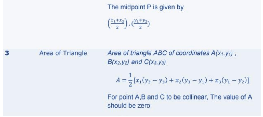 Coordinate Geometry Formulas for Class 10 Q4