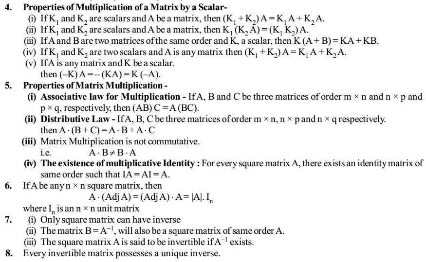 Matrices Formulas for Class 12 Q6