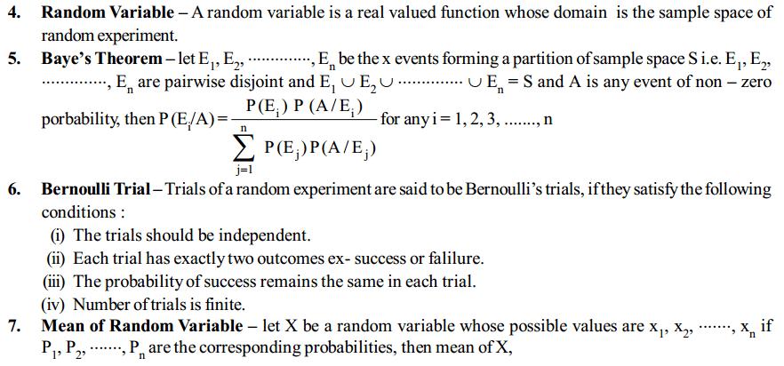 Probability Formulas for Class 12 Q2