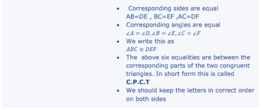 Triangles Formulas for Class 10 Q2